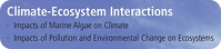 Climate-Ecosystems Interactions